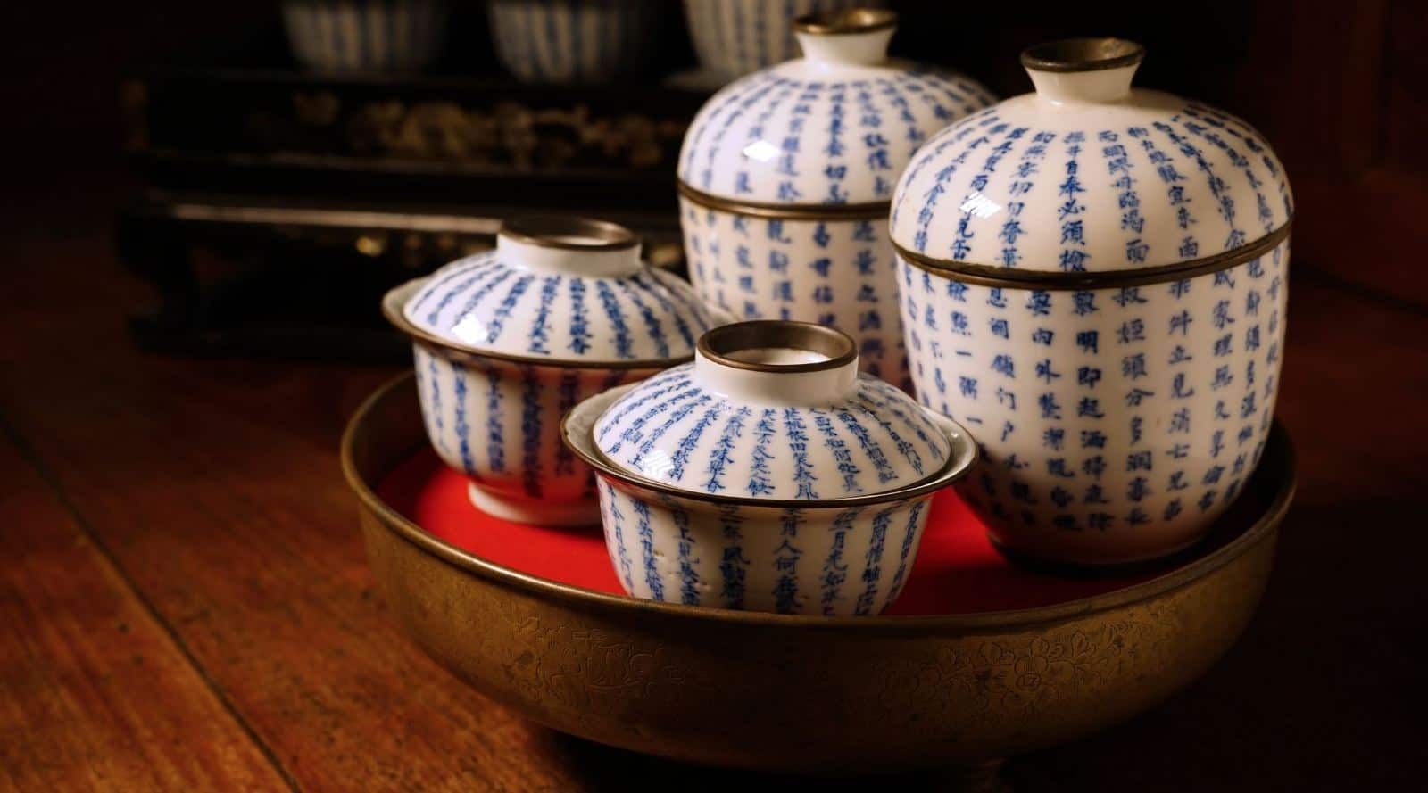 common tea sets in china